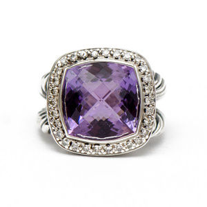 DAVID YURMAN Albion Ring with Amethyst & Diamonds